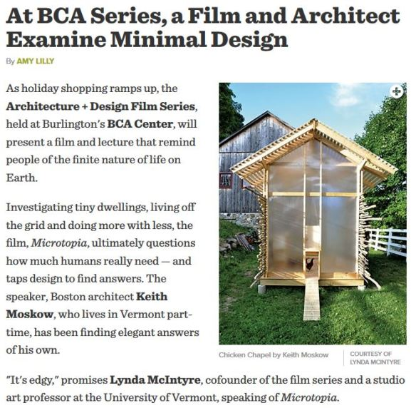 At BCA, a Film and Architect Examine Minimal Design_December 2014