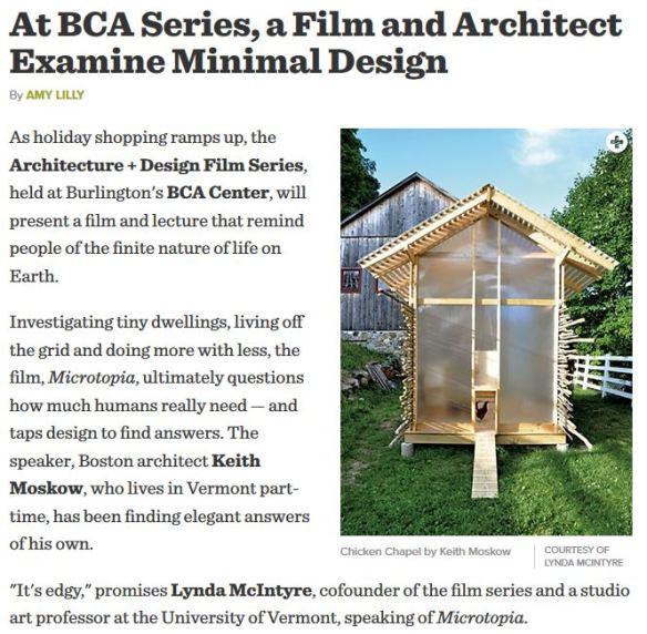 At BCA, a Film and Architect Examine Minimal Design_December 2014