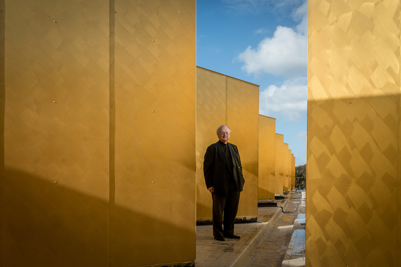 Architect, Glenn Murcutt, at the Islamic Mosque he has designed